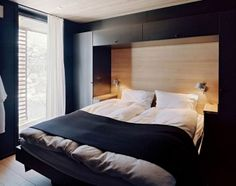 Contemporary Mountain Lodge in Norway stylish home interior bedroom Sleigh Bedroom Set, Bedroom Sets, Dream Bedroom, Home Decor Bedroom, Master Bedroom, Bedrooms, Rugs In Living Room, Living Room Designs, Home Interior