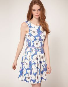 ASOS Oasis Poppy Print Dress
