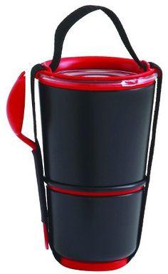 """black+blum Black + Blum - Lunch Pot – Black – 4.53""""L x 4.53""""W x 7.48""""H"""