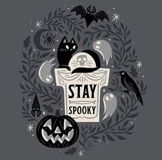 Autumn, Halloween, and Witchy Things. Happy Halloween, Retro Halloween, Halloween Horror, Holidays Halloween, Spooky Halloween, Halloween Drawings, Halloween T Shirts, Halloween Prints, Halloween Pictures