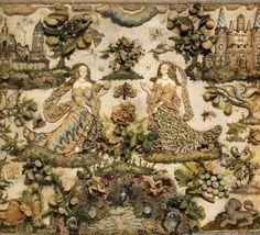 Detail English stumpwork 17th C English - Bing Images