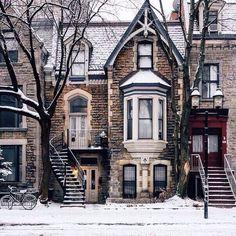 Image de winter, snow, and house