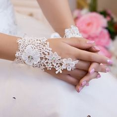 Korea Style Fashion Flower Lace Diamond Short by PrettySquareUSA