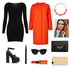 """orange"" by liliana-fernandes99 ❤ liked on Polyvore featuring Topshop, Jeffrey Campbell, L.K.Bennett, ASOS, Aurélie Bidermann, Quay, NYX, Bobbi Brown Cosmetics and Zero Gravity"