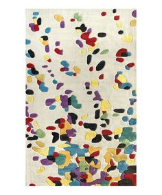 splatter rug by NUloom.