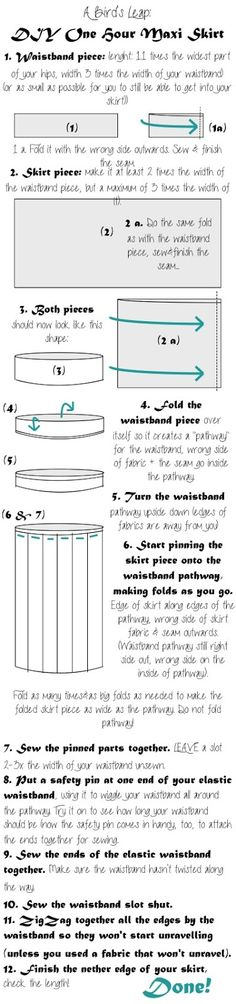 A Bird's Leap: DIY One Hour Semi-Pleated Maxi Skirt                                                                                                                                                                                 More
