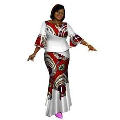 Bazin Riche African Tops and Skirt Sets for Women African Print Dashiki Traditional 2 Piece Skirt Sets Splice Clothing African American Fashion, African Print Fashion, Africa Fashion, African Fashion Dresses, African Attire, African Wear, African Dress, Fashion Outfits, African Outfits