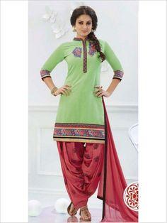 Green Party Wear Art Silk Suit