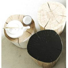 boomstammeubels Natural Living, Home Deco, Home Accessories, Tea Pots, Plates, Tableware, Furniture, Diy, Style