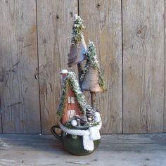 Erdészlak - téli asztaldísz, Otthon, lakberendezés, Karácsonyi, adventi apróságok, Dekoráció, Ünnepi dekoráció, Meska