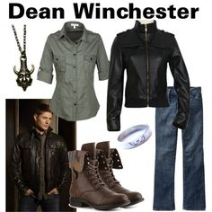 Dean Winchester by fandom-wardrobes on Polyvore featuring Old Navy, Madden Girl, supernatural and dean winchester