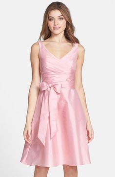 0752f2745e0 Alfred Sung Peau de Soie Fit  amp  Flare Dress available at  Nordstrom Fit  Flare