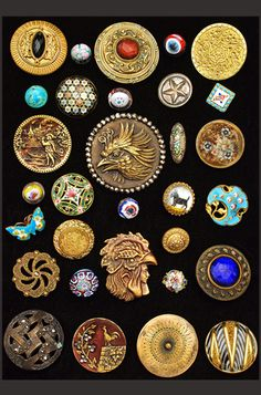 Antique buttons. So distinctive, speaking of a past in which material  details were important.