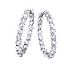Diamond Collection Super Diamond Hoop Earrings ...