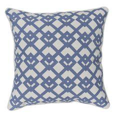 HICKS and HICKS Blue lattice cushion - Hicks & Hicks