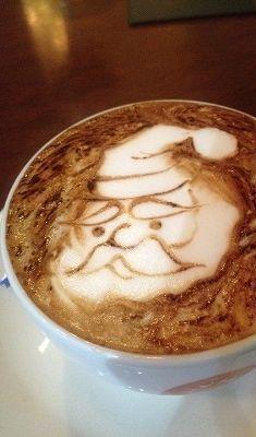 Santa Latte Art