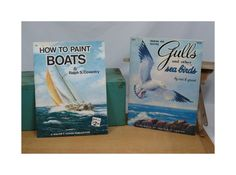 2 Art How to Books How to Paint Boats and by 13thStreetEmporium