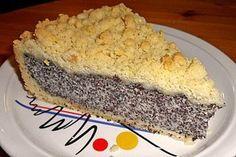 Mohnkuchen mit Quark und Streusel (Rezept mit Bild)   Chefkoch.de den Boden aus Hefeteig und ca 35 min backen.