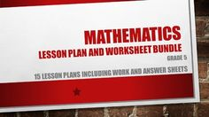 15 Lesson plans each including a worksheet and memoKnow your numbers.Addition and subtraction.Short division.Long division.Multiples and factors.Decimals.Multiply by a two digit numberFractions.Angles.Quadrilaterals.Area of composite figures.Basic operations, vocabulary and rules.Triangles.Measurements.Word problems.