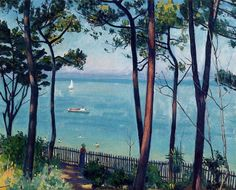 'Jardin en Pyla', huile de Albert Marquet (1875-1947, France)
