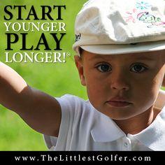 Kids golf, pee wee golf, The littlest golfer- start younger play longer. headed for the LPGA Tour #startyoungerplaylonger #thelittlestgolfer