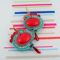 soutache earrings - russia