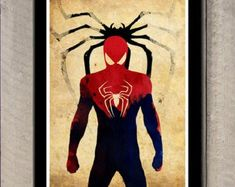 Minimalist Superhero Poster - Spiderman Poster size: 11 inches x 17 inches - Printed on high quality, weather resistant, texture card Marvel Vs, Marvel Dc Comics, Marvel Heroes, Punisher Marvel, Captain Marvel, Superhero Poster, Spiderman Poster, Spiderman Tattoo, Spiderman Marvel