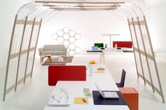 The Joyn Office System for Vitra by top interior designers, the Bouroullec Brothers. Luxury design to Modern Homes. #decoration #furniture #interiordesign See more: http://www.covetlounge.net/inspirations-ideas/http://www.covetlounge.net/inspirations-ideas/