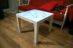 Put a strong enough bulb in this and you have yourself a light box for tracing patterns and other cool stuff.