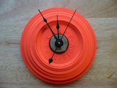 Shotgun Shell 12 Gauge Clay Pigeon Wall Clock by EverythingBullets