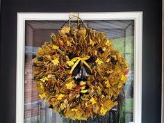 #DIY #Recycled Wreath by @Carol Van De Maele Van De Maele Hughes from My Craft Cave