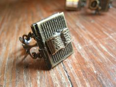 Book Lover's Locket Ring
