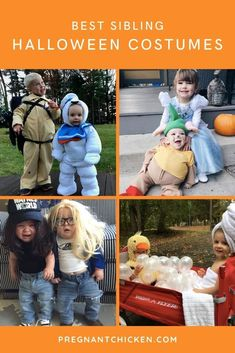 These are the best sibling Halloween costumes for babies and newborns including DIY costumes, family costumes, stroller and wagon ideas for both boys and girls. Some are easy, some are funny, but all of them are scary good!