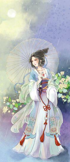 古风美人 || Antiquity Beauty. Geisha, Illustrations, Illustration Art, Chinese Background, Chinese Drawings, Vietnam, Different Art Styles, China Art, Creative Pictures