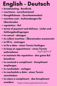 German Grammar, German Words, Learn English Words, Study German, Learn German, Learn French, German Language Learning, Foreign Language, Language Quotes