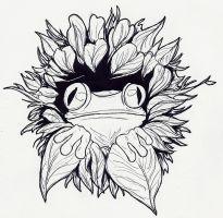 Treefrog Tattoo Design by Douji-Mayamiko