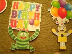 Do It Yourself Yo Gabba Gabba Birthday Decorations prolly doing some of this stuff. :-)