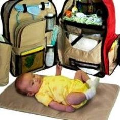 okkatots travel baby backpack diaper bag not cute but has everything i need. Black Bedroom Furniture Sets. Home Design Ideas