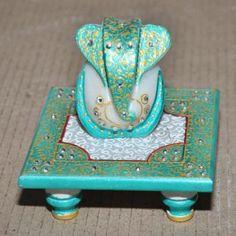 Marble Chowki With Ganesh1 - Maruti