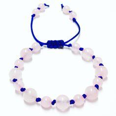 Rose Quartz Gemstone Bracelet - Womens Bracelet - Rose Quartz Shamballa - Yoga Jewelry - Meditation Bracelet - Rose Quartz Macrame Bracelet by OurUniverseShop on Etsy