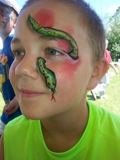 Easy Face Painting Designs, Face Painting For Boys, Face Painting Tips, Body Painting, Animal Face Paintings, Animal Faces, Halloween Make Up, Halloween Face, Henna Paint