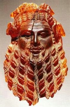 Amber carving of Dionysis - Rome - 1st century