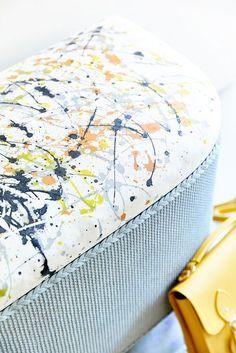 Better than bespoke - ottoman Painting Wicker Furniture, Funky Furniture, Upcycled Furniture, Furniture Projects, Painted Furniture, Painted Dressers, Plywood Furniture, Furniture Design, Loom Blanket