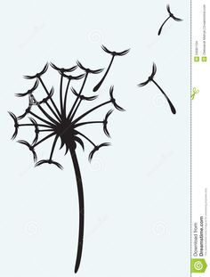Free download Blowing Dandelion Stencils Clipart for your creation.