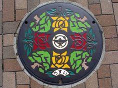 Japanese customized manhole covers, via Amusing Planet