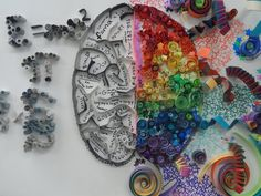 Left Brain vs Right Brain paper quilling by Orchid-Bud