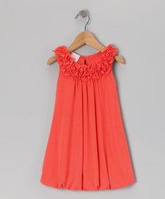 Take a look at this Orange Bubble Dress - Toddler & Girls by Plum Pudding on #zulily today!