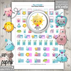 Bill Stickers, Planner Stickers, Bill Due Stickers, Kawaii Stickers, Utility Stickers, Planner Accessories, Erin Condren, Pay Day Stickers
