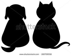 stock-vector-black-silhouette-of-a-cat-and-dog-160709558.jpg (450×359)