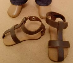 Early leather sandals - notice how the strap is integral to the heel Leather Sandals, The Originals, Heels, Outfits, Heel, Suits, High Heel, Kleding, Stiletto Heels